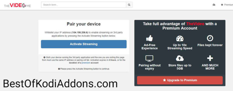 Thevideo.me/Pair, Vidup.me/Pair & Tvad.me/Pair – Stream Authorization Error Fixed